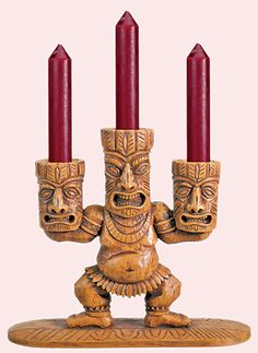 This is Different! Tiki God Candelabra... Tiki Bar, Tiki Mug, Tiki Décor, Tiki Art!