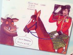 """When Gruffalo illustrator Axel Scheffler writes to Gruffalo author Julia Donaldson, he does ACE envelope drawings. Mail Art Envelopes, Axel Scheffler, Fun Mail, Postage Stamp Art, Decorated Envelopes, Envelope Art, Postcard Art, Letter Art, Letters"