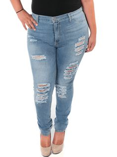 286b24c7f5 Plus Size Night And Day Denim Slashed Jeans. PLUSSIZEFIX