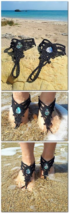 Barefoot sandals, and awesome summer accessory or festival footwear.   Check these out and other barefoot sandals over at Global Dreaming's Etsy Online shop
