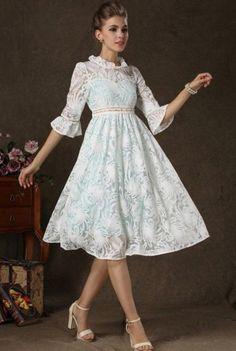 Trendy lace dress