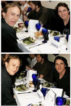 Heath Ledger & Christian Bale = me dead!<3
