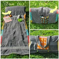 Tutorial: Sunbather's Companion towel mat with pillow · Sewing | CraftGossip.com