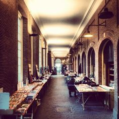 Bookmarket in cosy covered street. #books, #market, #street, #amsterdam, #travel, #travelgram, #holland, #netherlands, #travels, #travelling...