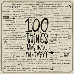 Inspiration : GSO  100 things that make me happy by sarahbhb.