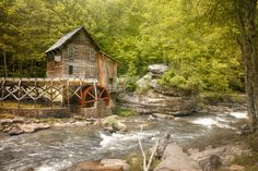 Glade Creek Grist Mill, Babcock State Park. Fayette County, West Virginia. This mill is actually a composite of three other historic Appalachian mills. Just lovely in the Spring.