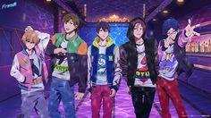 Tags: Wallpaper, Official Art, Kyoto Animation, Hazuki Nagisa, Matsuoka Rin, Tachibana Makoto, Nanase Haruka (Free!), Free!, Ryuugazaki Rei