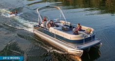 The easy to operate Lowe fishing pontoon is well equipped for fisherman. Chase big fish or soak up major rays. Fishing Pontoon, Fishing Boats, Pontoon Boats For Sale, Big Fish, Places To Travel, Cabin, Sports, Life, Hs Sports