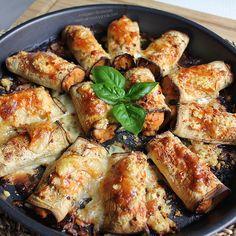"""Las mejores recetas saludables y la mejor cocina fitness la encontrarás aquí. Hoy te presento estos Canelones de berenjena """"fit"""" ¡Te encantarán!"""