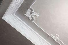 Pannelli per controsoffitto modello Rosone di Plasterego.