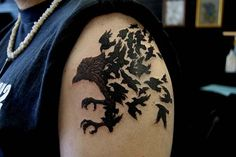 karga kol dövmeleri erkek crow arm tattoos for men