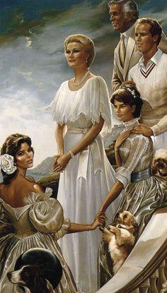 Ralph Wolfe Cowan (b.1931) — Portrait of Princess Grace & Prince Rainier of Monaco with Family, 1981 (800×1408)