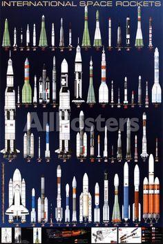 オールポスターズの「International Space Rockets」高品質プリント