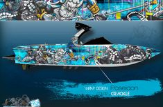 Boat Wraps | Marine Vinyl Graphics | Wake Graphics Sanger Boats, Red Crafts, Boat Wraps, How To Wrap Flowers, Rough Riders, Culture Shock, Boat Painting, Pacific Blue, Superfly