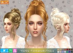 Sims 4 CC's - The Best: Fontana Di Trevi Hair by Newsea