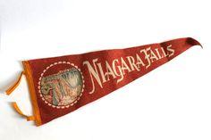 Vintage Niagara Falls Felt Souvenir Pennant by TheElmsVintage