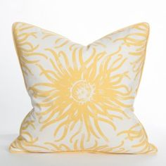 DISCONTINUED SALE<<<<LIMITED STOCK>>>>Anemone Pillow / Sun - South Beach Collection | Beach Pillow | Coastal Pillow