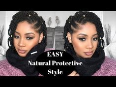 As requested, here is the natural hair protective style you asked for. With just a few flat twist on the side and two strand twist, this easy pro. Natural Hair Twists, Natural Hair Care, Natural Hair Styles, Flat Twist Hairstyles, Weave Hairstyles, Pretty Hairstyles, Kid Hairstyles, Dreadlock Hairstyles, Wedding Hairstyles