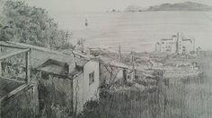 #Sketch #drawing #연필드로잉 #연필 #소묘 #스케치 #드로잉 #풍경 #해운대 #pencil #scape #busan #sea #오륙도