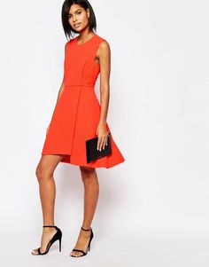 Image 4 ofWhistles Textured Dress in Orange