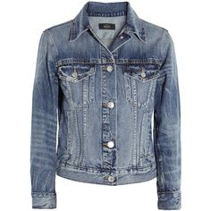 Vintage denim jacket (3 430 ZAR) ❤ liked on Polyvore featuring outerwear, jackets, coats, coats & jackets, denim, j crew jacket, blue jackets, vintage jacket, blue jean jacket and vintage jean jacket