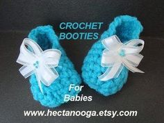 LITTLE BLUE BABY BOOTIES