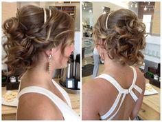 Beautiful prom updo with headband - by Carla Makowski.