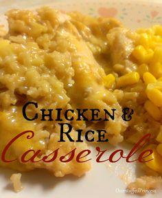 Chicken and Rice Casserole Recipe Plus Menu Plan Monday