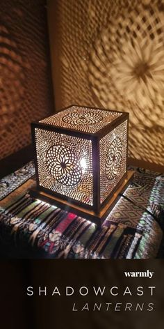 Unique Art Deco Cubic Table Lamp For Art Lovers This Design of this lamp is inspired from Space Beautiful Moroccan handcrafted Copper Standing Lamp with beautiful Shapes pattern - Size : inches Width / inches Length - custom size on demand - Colors Moroccan Lighting, Moroccan Art, Moroccan Lanterns, Moroccan Interiors, Moroccan Tiles, Modern Lighting, Turkish Tiles, Moroccan Bedroom Decor, Modern Moroccan