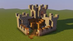 Minecraft Small Castle, Casa Medieval Minecraft, Minecraft Cottage, Cute Minecraft Houses, Minecraft Stuff, Minecraft Ideas, Minecraft Building Guide, Minecraft House Tutorials, Minecraft House Designs