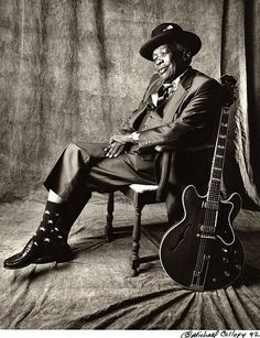 John Lee Hooker -- Michael Collopy Photography- One of the inspirations of guitar blues and later rock musicians.