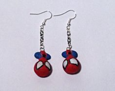 Spiderman Clay Earrings by TheChicGeekOutlet on Etsy Clay Earrings, Drop Earrings, The Chic, Spiderman, Geek Stuff, Etsy Shop, Trending Outfits, Unique Jewelry, Handmade Gifts