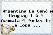 http://tecnoautos.com/wp-content/uploads/imagenes/tendencias/thumbs/argentina-le-gano-a-uruguay-10-y-acumula-4-puntos-en-la-copa.jpg Argentina Vs Uruguay Copa America 2015. Argentina le ganó a Uruguay 1-0 y acumula 4 puntos en la Copa ..., Enlaces, Imágenes, Videos y Tweets - http://tecnoautos.com/actualidad/argentina-vs-uruguay-copa-america-2015-argentina-le-gano-a-uruguay-10-y-acumula-4-puntos-en-la-copa/