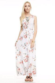 ac8c13b25b Every Morning Floral Sleeveless Maxi Dress Sequin Top, Floral Maxi Dress,  Vintage Floral,