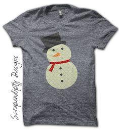 Snowman Iron on Transfer - Christmas Iron on Shirt PDF / Winter Little Boys Clothes / Snowman Shirt Design / Kids Baby Toddler Shirt IT134 on Etsy, $2.50