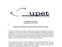 CONDENA LA UPET PERSECUSIÓN DEL INE CONTRA DIRECTIVOS DE MEDIOS