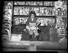 """(Black) girls have always read comics. [photo by Charles """"Teenie"""" Harris, early 1940s. via @Sameer Patel Ahmed"""