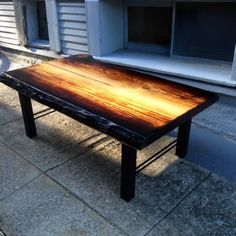 Torched Deodar Cedar coffee table - Yelp