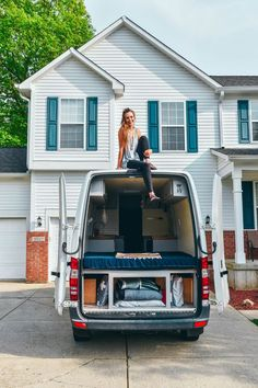 Van life at home in the driveway!