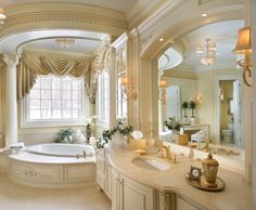 This lady would love the Big Fancy Gold Border painted on the sink in this bathroom! https://www.decoratedbathroom.com/borders/big-fancy-border