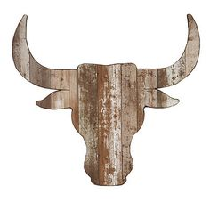 Distressed Steer Head Wooden Plaque- Kirklands home store