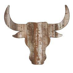 Distressed Steer Head Wooden Plaque- Kirklands home store