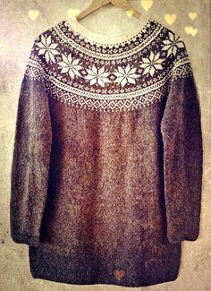 Knitting pattern PDF for a beautiful, feminine Norwegian sweater. The pattern has a classic design made from from old Norwegian knitting patterns, Cast On Knitting, Knitting Gauge, Fair Isle Knitting, Norwegian Knitting, Girls Sweaters, Knit Sweaters, Knit Or Crochet, Knitted Shawls, Sweater Fashion