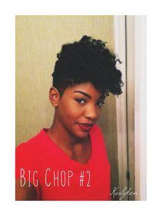 Big chop tapered haircut. | Black women hair, natural hair