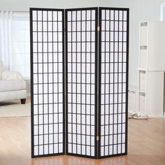 Simora Black Shoji 3 Panel Room Divider - 85061