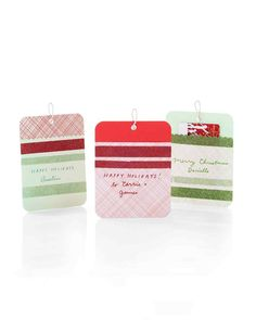 Cardstock + glitter + double stick tape = these DIY Sparkling Gift Tags