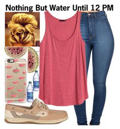 """""""Water~~"""" by ja-la ❤ liked on Polyvore featuring Sperry Top-Sider, Casetify, Betsey Johnson and H&M"""