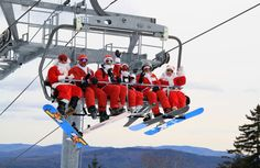 Santa Sunday at Sunday River 2013! http://www.boston.com/travel/explorene/specials/ski/blog/2013/12/early_white_chr.html
