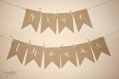 Calligraphy Thanksgiving Banner | Hey Love Designs