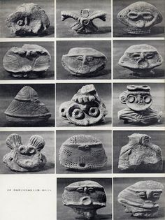 japaese pottery . Jomon period (10,000 BC to 300 BC).